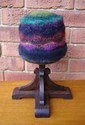 Felt Knitted Colour Waves Hat - Multi/Black