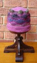 Felt Knitted Colour Waves Hat - Pinks