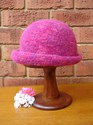 Felt Knitted Shaped Brim Hat - Pinks