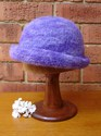 Felt Knitted Shaped Brim Hat - Purples