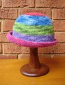 Felt Knitted Shaped Brim Hat - Striped
