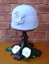 Felt Knitted Flower Hat - Silver Grey