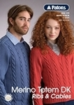 Publication-Totem Merino 8ply Ribs & Cables Book 1270-21 Designs
