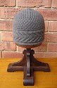 Knitted Staghorn Cable Hat-Mink  © Lynette Swift