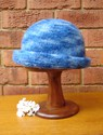 Felt Knitted Shaped Brim Hat - Blues  © Lynette Swift
